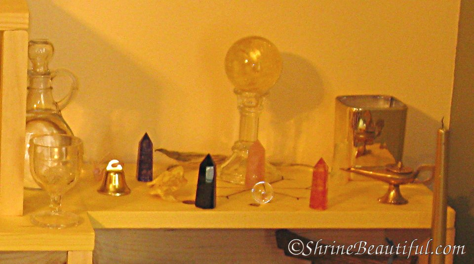 Aiwelin S Altar Druid And Wiccan Shrine Beautiful